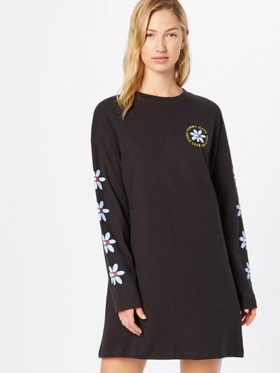 Tommy Jeans Kleid in marine / hellblau / gelb / schwarz / weiß, Modelansicht