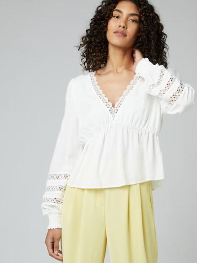 Guido Maria Kretschmer Collection Bluse 'Floriane' in weiß, Modelansicht