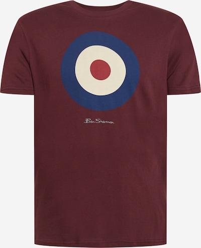 Ben Sherman Camiseta 'TARGET' en marino / gris claro / rojo vino / blanco, Vista del producto