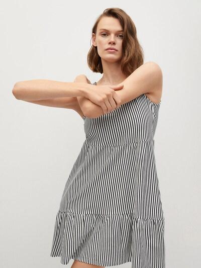 MANGO Kleid 'Maroto' in schwarz / weiß, Modelansicht