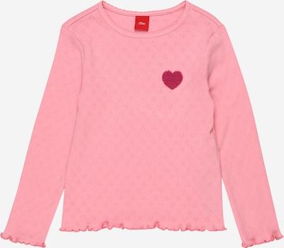 s.Oliver Shirt in dunkellila / rosé, Produktansicht