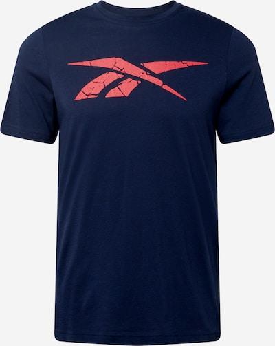 Reebok Sport Functioneel shirt in de kleur Navy / Rood, Productweergave