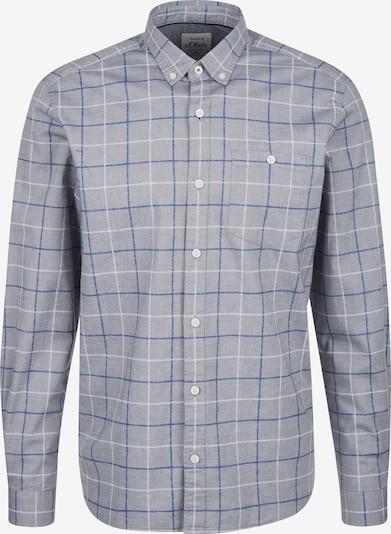 s.Oliver Hemd in blau / grau / weiß, Produktansicht
