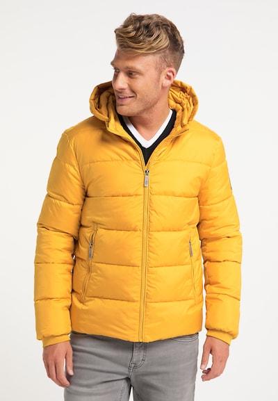 MO Winterjas in de kleur Geel: Vooraanzicht