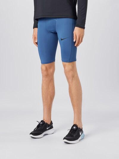 NIKE Sportovní kalhoty - modrá: Pohled zepředu