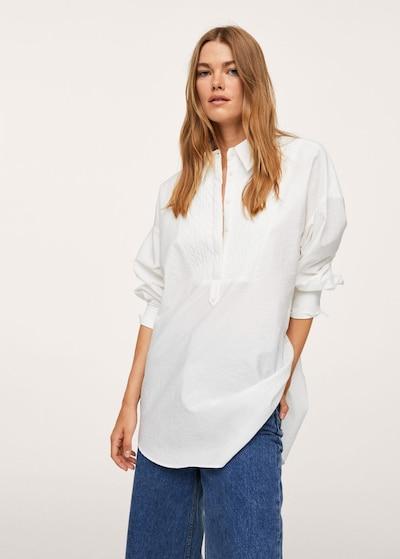 fehér melír MANGO Blúz 'Solemne', Modell nézet