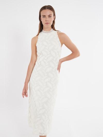 Ana Alcazar Midikleid ' Zawor ' in weiß, Modelansicht