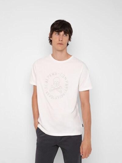 Scalpers T-shirt i grå / vit: Sedd framifrån