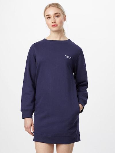 Pepe Jeans Šaty 'AMANDA' - indigo / bílá, Model/ka