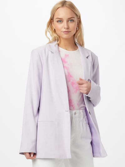 Cotton On Blazer en lavanda, Vista del modelo