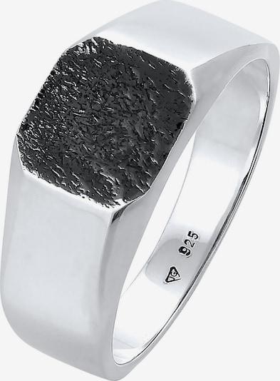 KUZZOI Ring Siegelring in schwarz / silber, Produktansicht