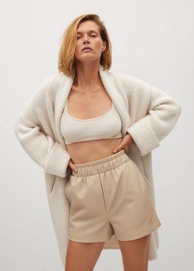 MANGO Shorts 'Shorty-I' in beige, Modelansicht