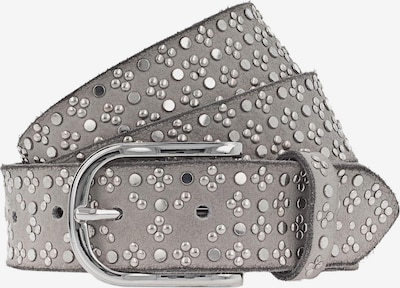 b.belt Handmade in Germany Ledergürtel mit Nieten in grau / silber, Produktansicht