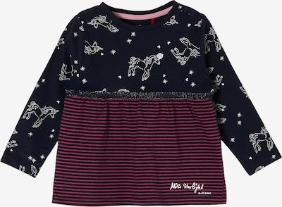 s.Oliver Shirt in dunkelblau / bordeaux / weiß, Produktansicht