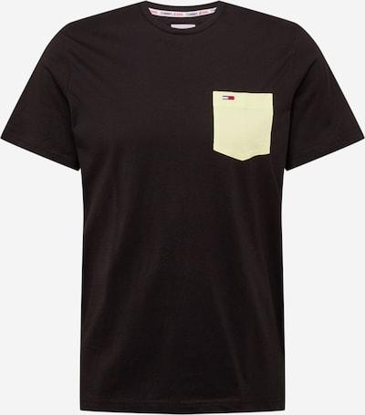 Tommy Jeans Majica | pastelno rumena / črna barva, Prikaz izdelka