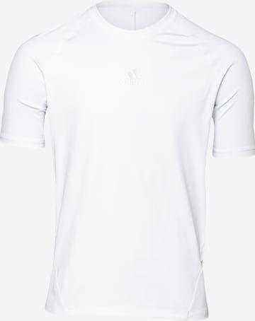 ADIDAS PERFORMANCE Funktsionaalne särk 'Alphaskin', värv valge