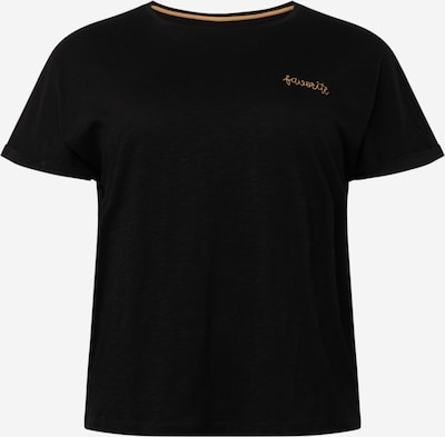 MY TRUE ME T-Shirt in hellbeige / schwarz, Produktansicht