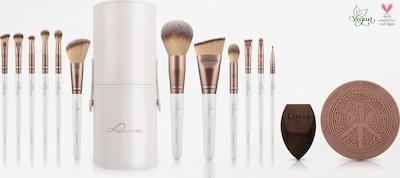Luvia Cosmetics Makeup Accessories in Bronze / White, Item view