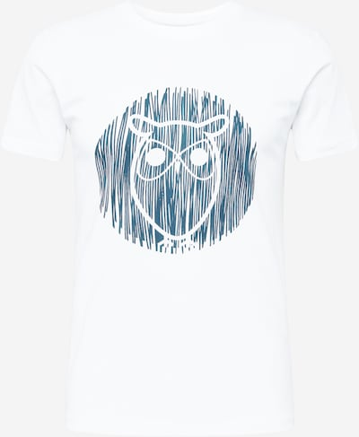 KnowledgeCotton Apparel Тениска 'ALDER' в тъмносиньо / бяло, Преглед на продукта