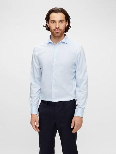 J.Lindeberg Overhemd in de kleur Lichtblauw: Vooraanzicht
