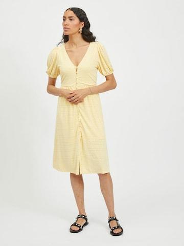 VILA Shirt Dress 'Kathy' in Yellow