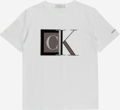 Calvin Klein Jeans Shirt en grau / taupe / schwarz / weiß, Vue avec produit
