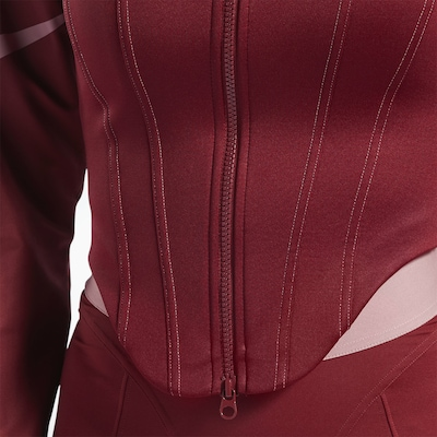 Reebok Classics ' Cardi B Corset Hoodie ' in rot, Produktansicht