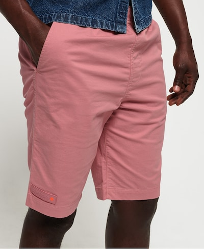 Superdry Pantalon chino en rose, Vue avec modèle
