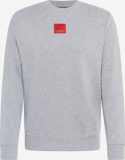 HUGO Sweat-shirt 'Diragol' en gris clair / rouge, Vue avec produit