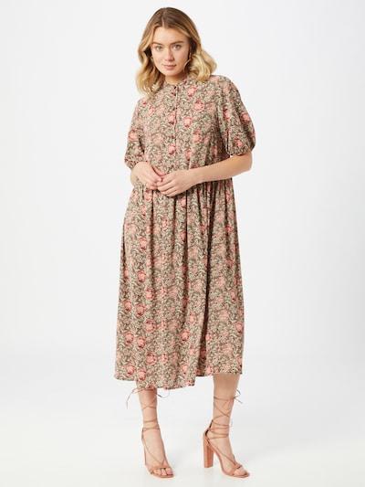 ONLY Kleid 'Janine' in braun / rot, Modelansicht