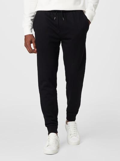 Pantaloni 'Lamont' BOSS pe negru, Vizualizare model