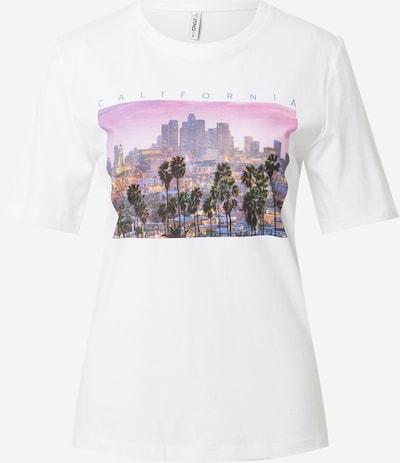 ONLY Тениска 'IRIS' в пъстро / бяло, Преглед на продукта