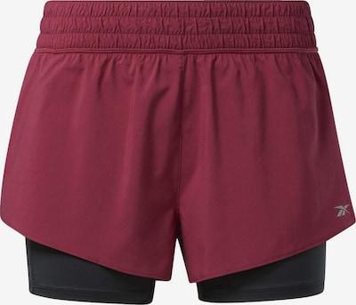 REEBOK Shorts in pitaya / schwarz, Produktansicht