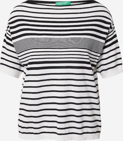 UNITED COLORS OF BENETTON Sweater in Black / White, Item view