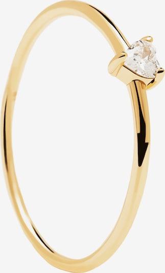P D PAOLA Bague 'White Heart' en or / argent, Vue avec produit