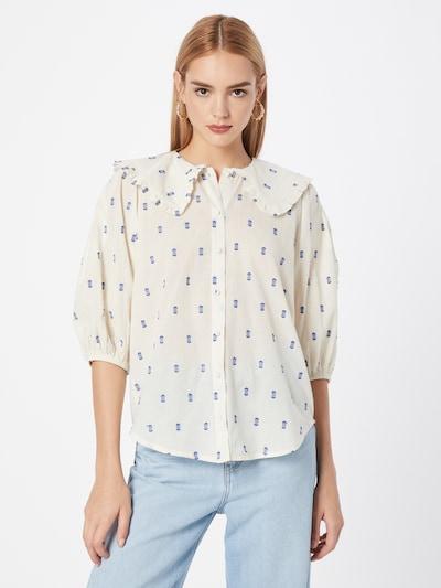 SISTERS POINT Bluse 'IVANA' in creme / blau, Modelansicht