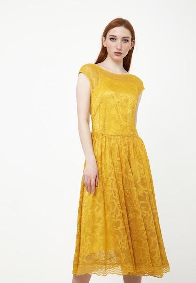 Madam-T Kleid 'Lotta' in gelb, Modelansicht