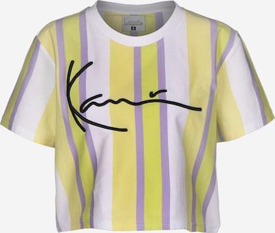Karl Kani Shirt in de kleur Geel / Lila / Zwart / Wit, Productweergave