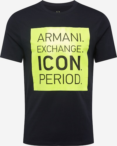 ARMANI EXCHANGE Shirt in de kleur Navy / Neongeel, Productweergave