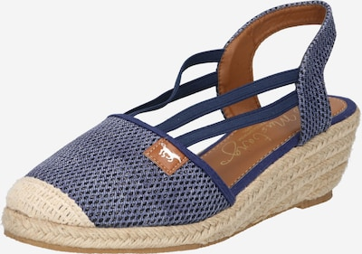 MUSTANG Sandales en beige clair / bleu fumé / marron châtaigne / noir, Vue avec produit