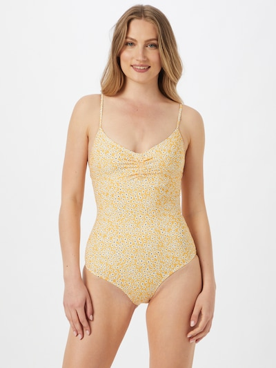 Samsoe Samsoe Badpak 'Gytea' in de kleur Geel / Zwart / Wit, Modelweergave