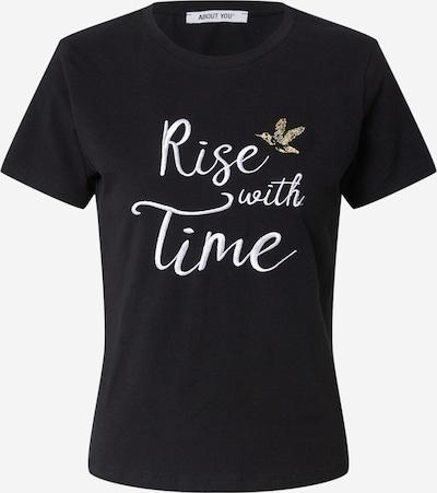 ABOUT YOU Shirt 'Elin' in de kleur Goud / Zwart / Wit, Productweergave