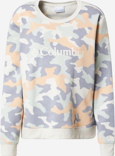 COLUMBIA Sweatshirt in creme / opal / flieder / pastellorange / weiß, Produktansicht