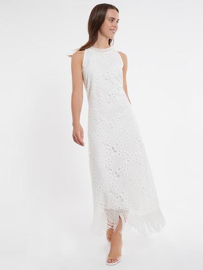 Ana Alcazar Maxikleid ' Zedea ' in weiß, Modelansicht