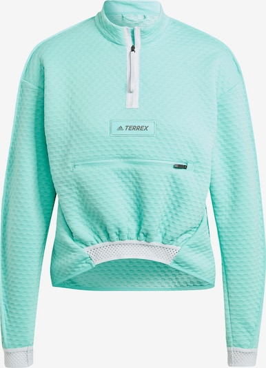 adidas Terrex Sportsweatshirt in mint / weiß, Produktansicht