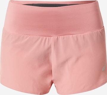 ASICS Športové nohavice 'ROAD' - ružová