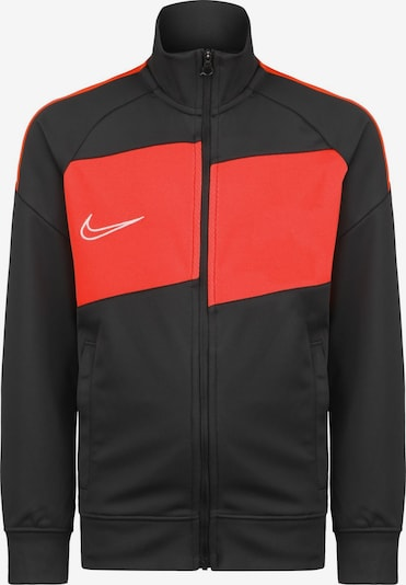 NIKE Sportsweatjacke 'Academy' in rot / schwarz, Produktansicht