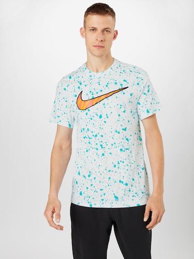 Nike Sportswear Shirt in türkis / orange / weiß: Frontalansicht