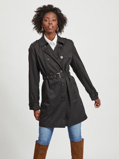 VILA Övergångskappa i svart, På modell