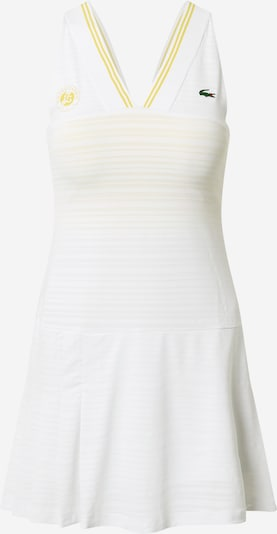 Lacoste Sport Sports dress in Yellow / Light yellow / White, Item view